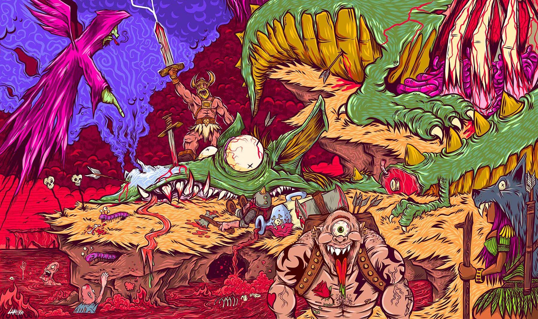 slay the dragon illustration
